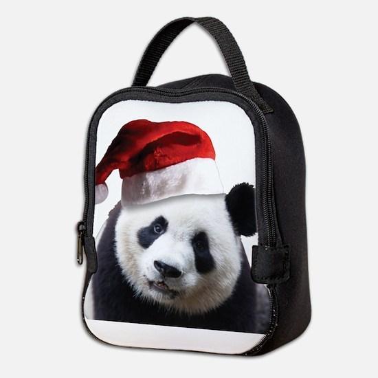A Cute Panda Bear Wearing a San Neoprene Lunch Bag