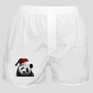A Cute Panda Bear Wearing a Santa Cla Boxer Shorts