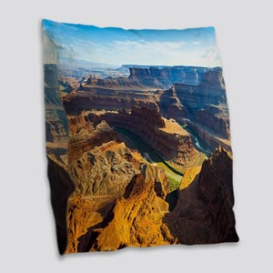 Beautiful Grand Canyon Burlap Throw Pillow