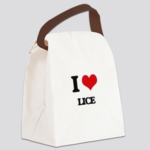 I Love Lice Canvas Lunch Bag