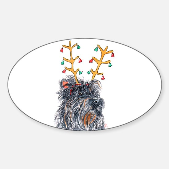 Holiday Cairn Terrier Decal