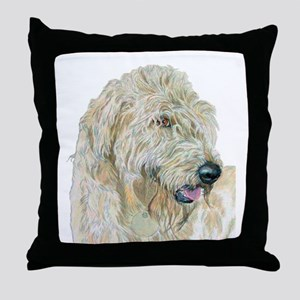 Cream Labradoodle Throw Pillow