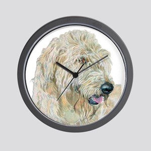 Cream Labradoodle Wall Clock