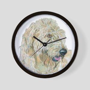 Cream Labradoodle Wall Clock