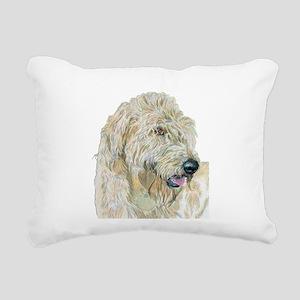 Cream Labradoodle Rectangular Canvas Pillow