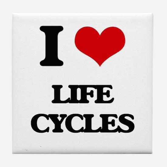 I Love Life Cycles Tile Coaster
