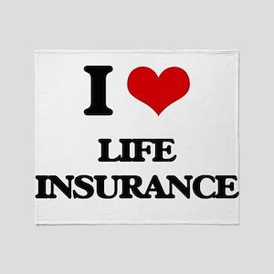 I Love Life Insurance Throw Blanket