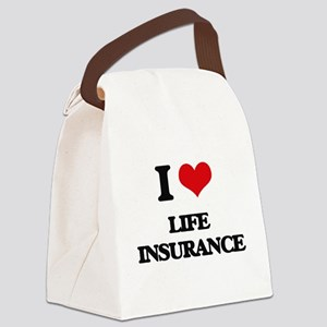 I Love Life Insurance Canvas Lunch Bag