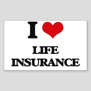 I Love Life Insurance Sticker