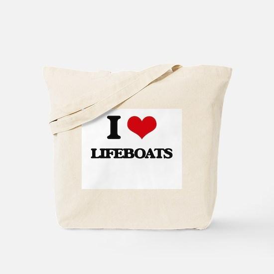I Love Lifeboats Tote Bag