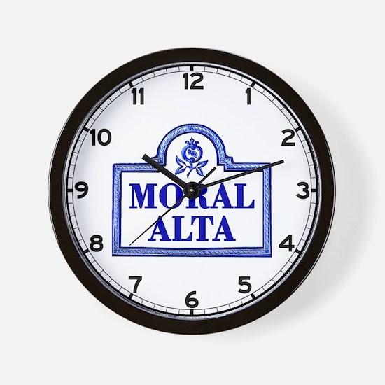 Moral Alta, Granada - Spain Wall Clock