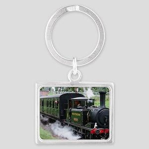 Steam Train Landscape Keychain