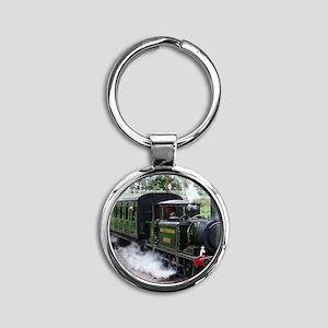 Steam Train Round Keychain