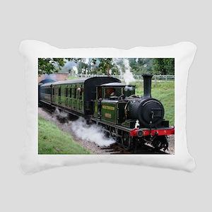 Steam Train Rectangular Canvas Pillow