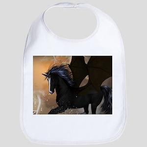 Bautiful dark unicorn Bib