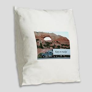 Keep on truckin': truck & arch Burlap Throw Pillow
