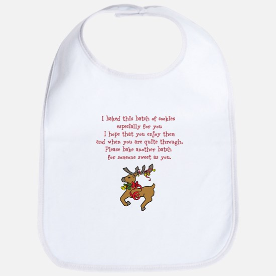 Christmas Poem Plate Bib