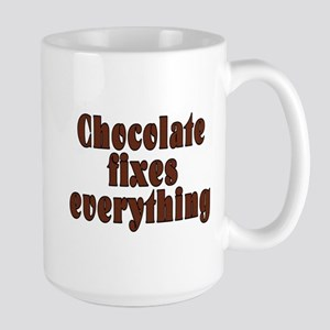 Chocolate fixes everything - Large Mug