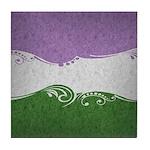 Genderqueer Ornamental Flag Tile Coaster