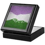 Genderqueer Ornamental Flag Keepsake Box
