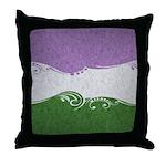 Genderqueer Ornamental Flag Throw Pillow