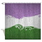 Genderqueer Ornamental Flag Shower Curtain