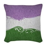 Genderqueer Ornamental Flag Woven Throw Pillow
