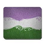 Genderqueer Ornamental Flag Mousepad