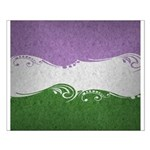 Genderqueer Ornamental Flag Small Poster