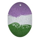Genderqueer Ornamental Flag Ornament (Oval)