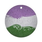 Genderqueer Ornamental Flag Ornament (Round)