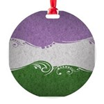 Genderqueer Ornamental Flag Round Ornament