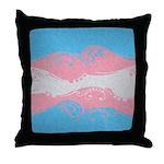 Transgender Ornamental Flag Throw Pillow