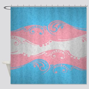 Transgender Ornamental Flag Shower Curtain