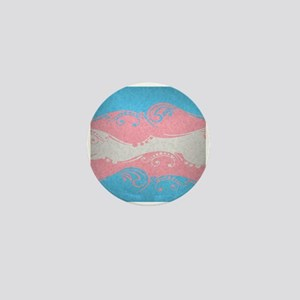 Transgender Ornamental Flag Mini Button