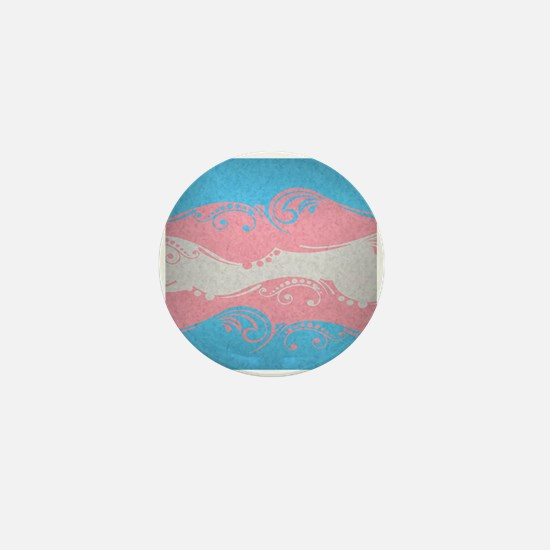 Transgender Ornamental Flag Mini Button