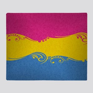 Pansexual Ornamental Flag Throw Blanket