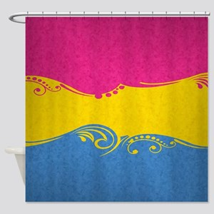 Pansexual Ornamental Flag Shower Curtain