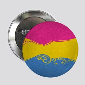 """Pansexual Ornamental Flag 2.25"""" Button (10 pack)"""