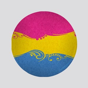 "Pansexual Ornamental Flag 3.5"" Button"