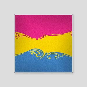 "Pansexual Ornamental Flag Square Sticker 3"" x 3"""