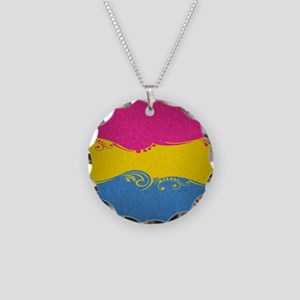 Pansexual Ornamental Flag Necklace Circle Charm