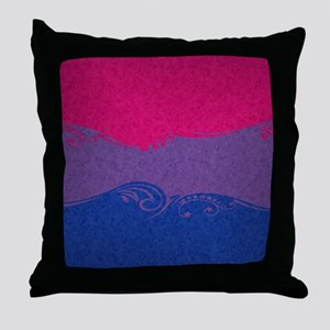 Bisexual Ornamental Flag Throw Pillow