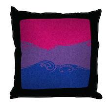 Bisexual Ornamental Flag Throw Pillow