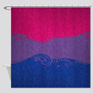 Bisexual Ornamental Flag Shower Curtain