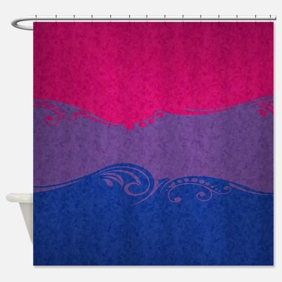 Bisexual Ornamental Flag Shower Curtain