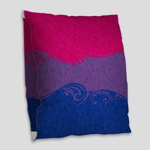 Bisexual Ornamental Flag Burlap Throw Pillow