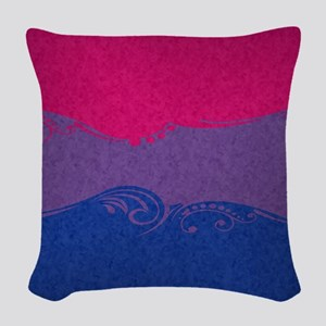 Bisexual Ornamental Flag Woven Throw Pillow