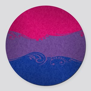 Bisexual Ornamental Flag Round Car Magnet