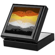 Bear Ornamental Flag Keepsake Box